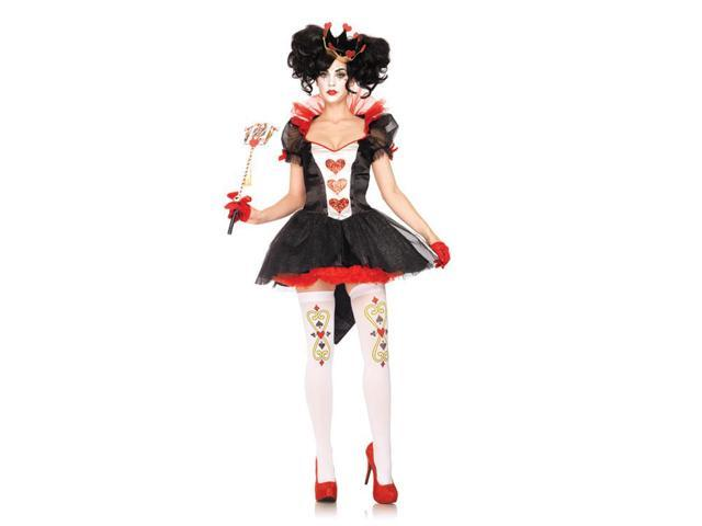 Sexy Queen of Hearts Tulle Petticoat Costume Dress Adult Small 4-6