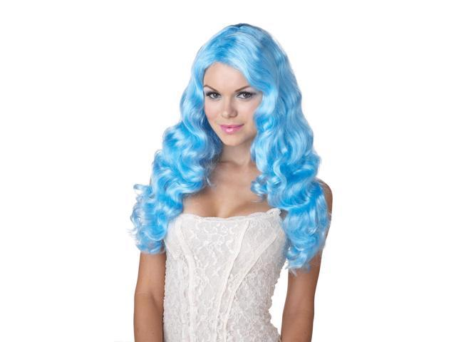 Baby Blue Sweet Tart Long Costume Wig Adult One Size