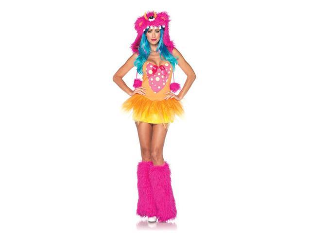 Sexy Shelly Monster Tutu Dress & Furry Hood Costume Adult X-Small 0-2