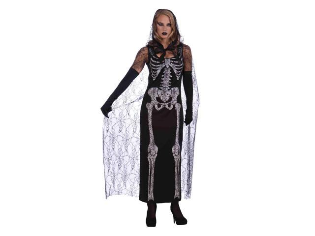 Skeleton Bone Dress Adult Costume One Size Fits Most