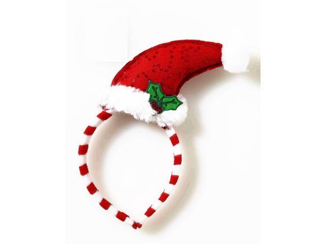 Santa Hat Mistletoe Costume Headband One Size