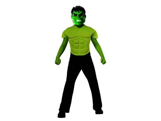 Avengers Assemble Marvel Hulk Muscle Chest Shirt Child Costume One Size