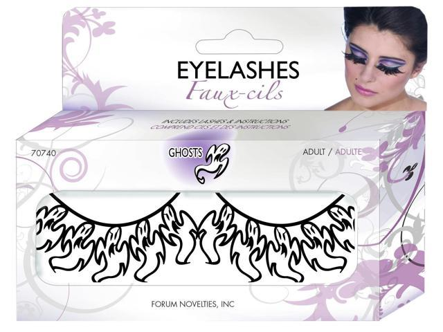 Ghost Costume Paper Eyelashes One Size
