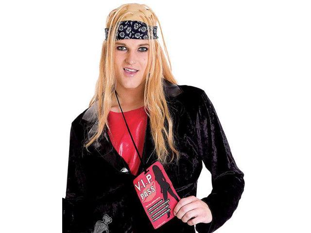 Rock Lover Adult Costume Wig One Size