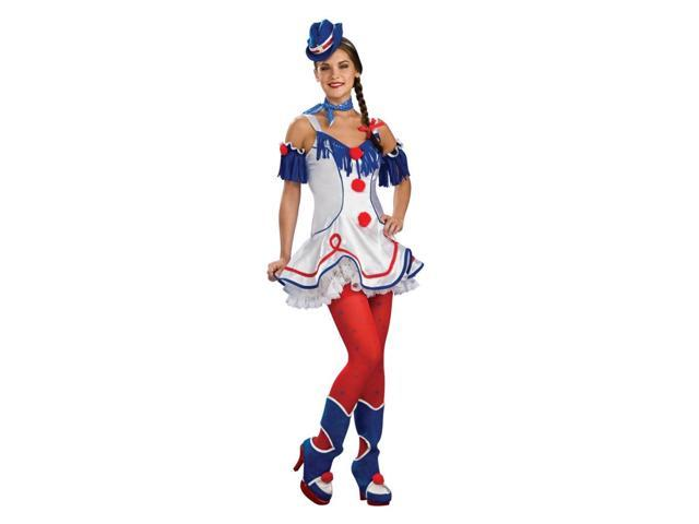 Ring Master Red White & Blue Lady Rodeo Clown Costume Dress Adult Standard