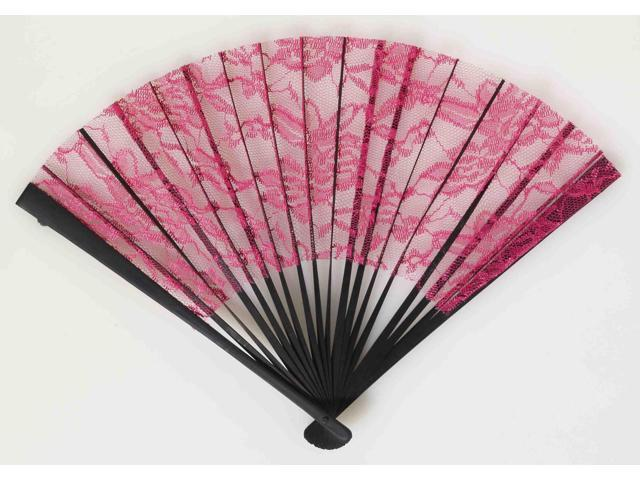 Burlesque Babe Lace Fan Costume Accessory One Size