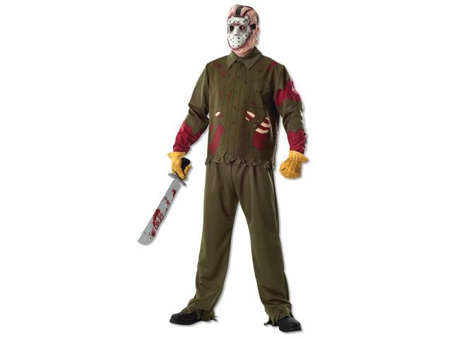 Friday The 13th Deluxe Jason Voorhees Costume Adult One Size Fits Most