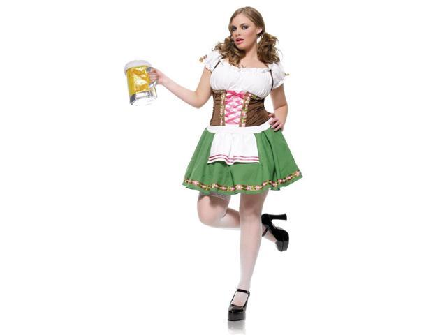 Sexy Gretchen German Beer Girl Costume Dress Adult Plus 1X/2X 16-20