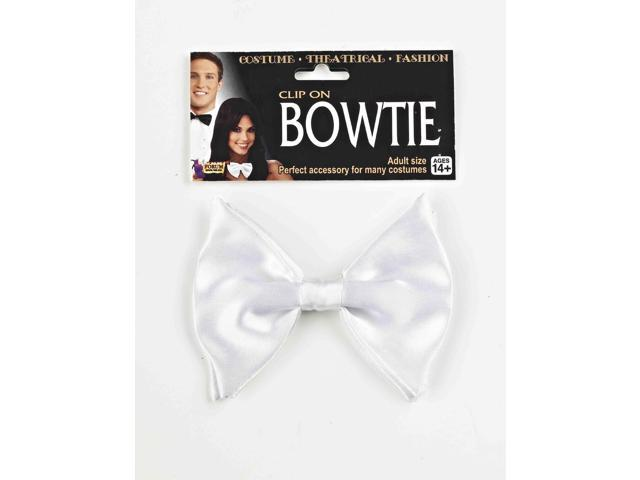 White Clip On Bowtie Costume Accessory One Size