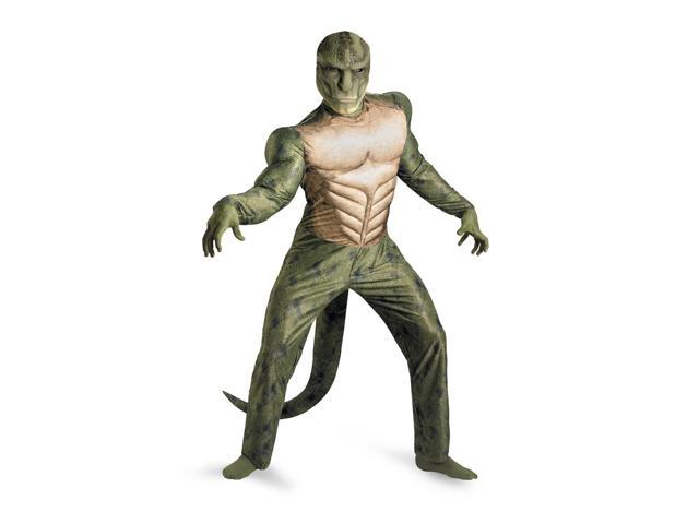 Amazing Spider-Man Lizard Classic Muscle Chest Jumpsuit Costume Adult XX-Large