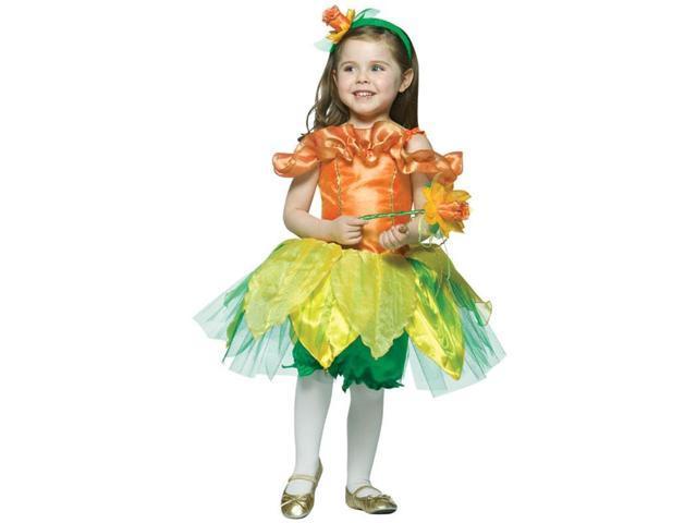 Daffodil Flower Dress Costume Child Toddler 3T-4T