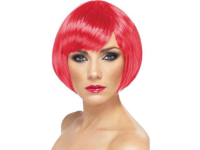 Short Babe Fuchsia Bob Costume Wig One Size