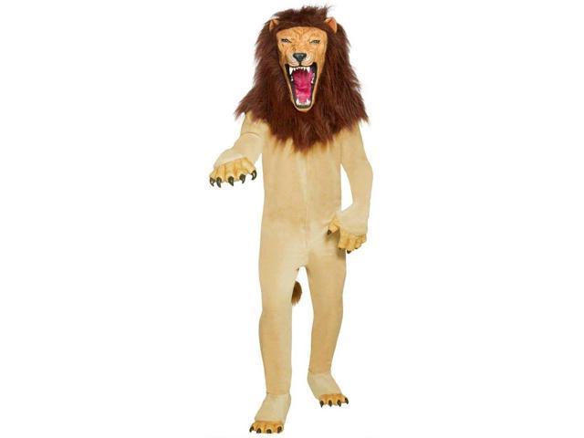 Brown & Beige Vicious Circus Lion Costume Adult Medium