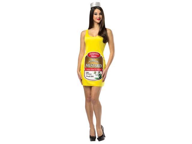 Zestyville Mustard Tank Dress Costume Adult 4-10