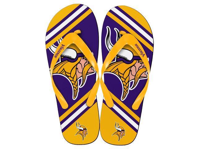 Minnesota Vikings NFL Unisex Big Logo Flip Flops Medium (W 9-10/M 7-8)