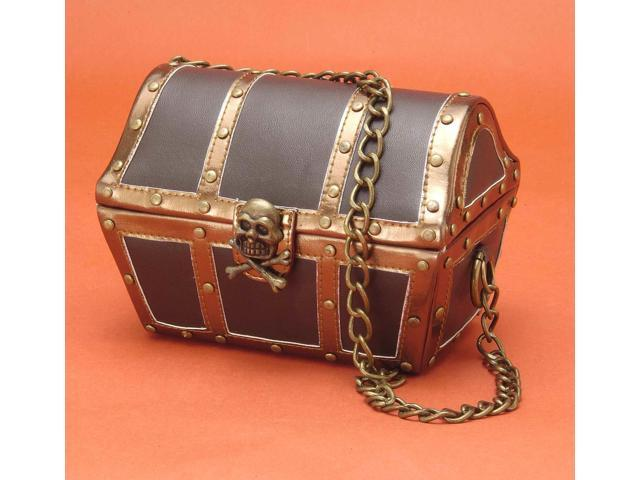 Pirate Chest Costume Handbag Adult One Size