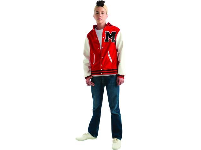 Glee Puck Football Jacket & Wig Costume Teen Teen