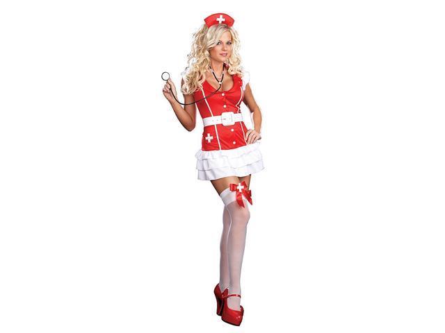 Sexy Vital Signs Nurse Dress Costume Adult Medium