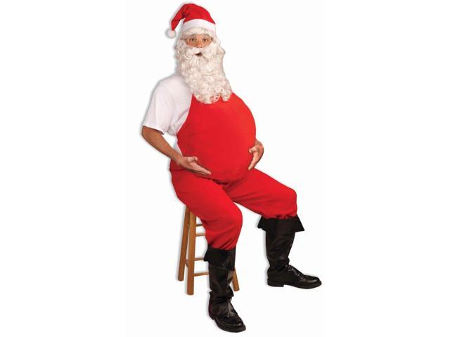 Red Belly Stuffer Santa Costume Accessory