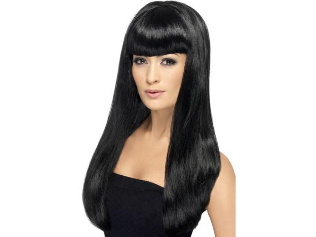 Babelicious Long Costume Wig Adult: Black One Size