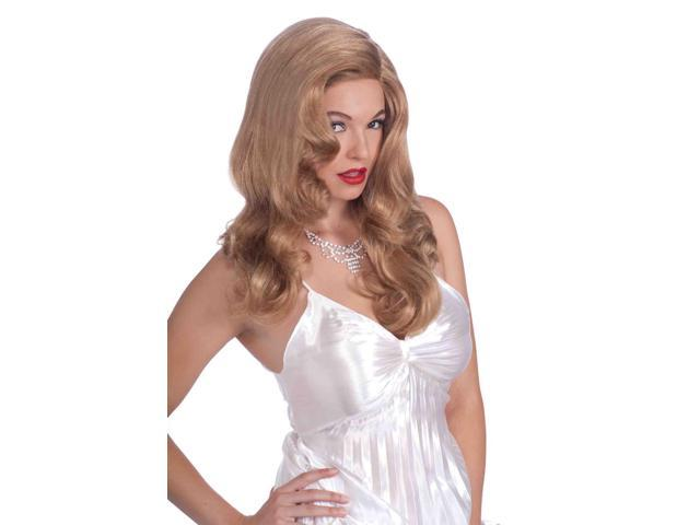 Hollywood Starlet Blonde Costume Glamour Wig One Size