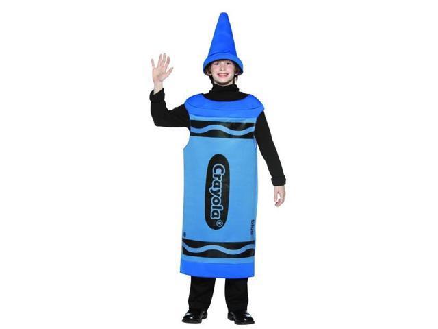 Blue Crayola Crayon Child Costume Tween 10-12