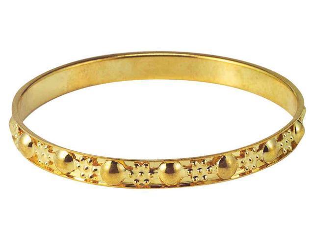 Gypsy Thin Gold Costume Bangle Bracelet One Size