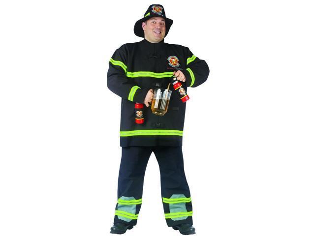 Fill Er' Up Fireman Costume Adult Plus Plus Size