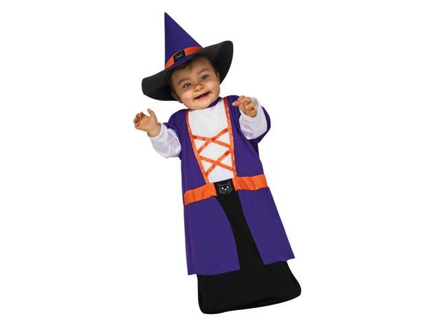 Purple & Orange Witch Costume Baby Bunting Newborn 0-6 Months