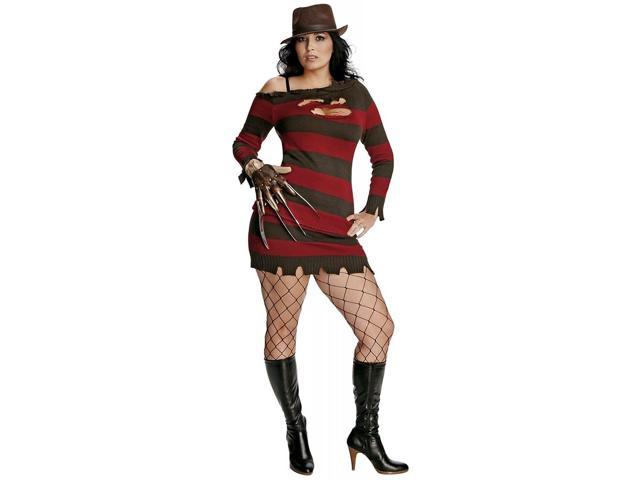 Nightmare On Elm Street Krueger Sexy Costume Dress Adult Plus Plus Size