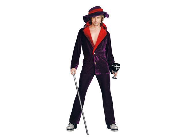 Big Pimpin Purple Velour Costume Suit Adult X-Large