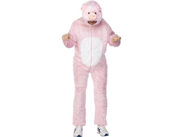 Pig Adult Costume With Hood Medium