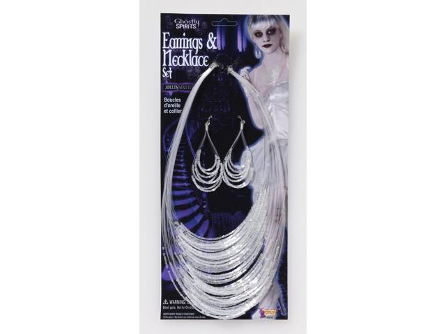 Ghostly Spirits Earring & Necklace Costume Jewelry Set One Size