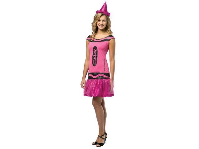 Crayola Glitz & Glitter Dress Costume Teen: Shimmering Blush Teen 13-16