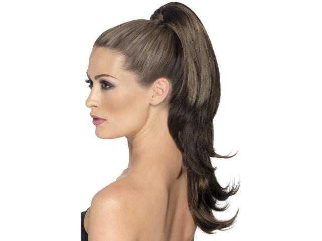Divinity Costume Clip-On Hair Extension: Wavy Brown One Size