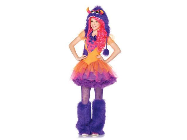 Furrrocious Frankie Monster Dress & Furry Hood Costume Teen Small/Medium 10-12