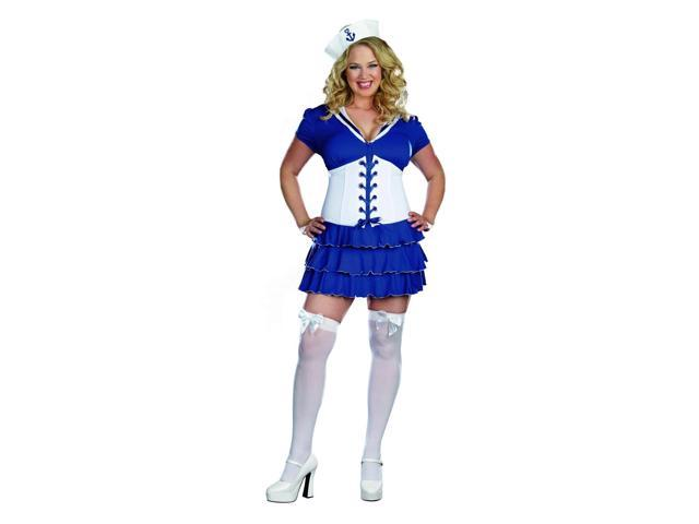 She's On Sail Sexy Sailor Dress Costume Adult Plus 1X/2X