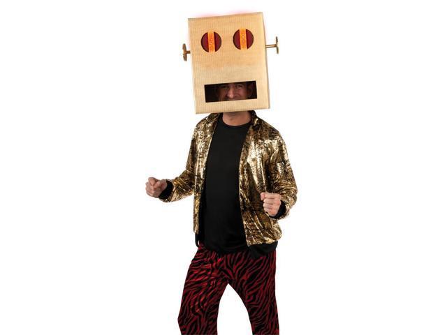 LMFAO Robot Pete LED Light Up Costume Head Headpiece Adult One Size