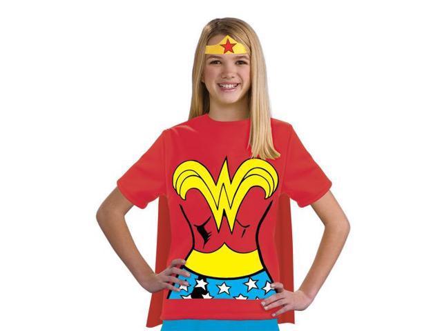 Wonder Woman Shirt & Headpiece Costume Set Child Medium 8-10