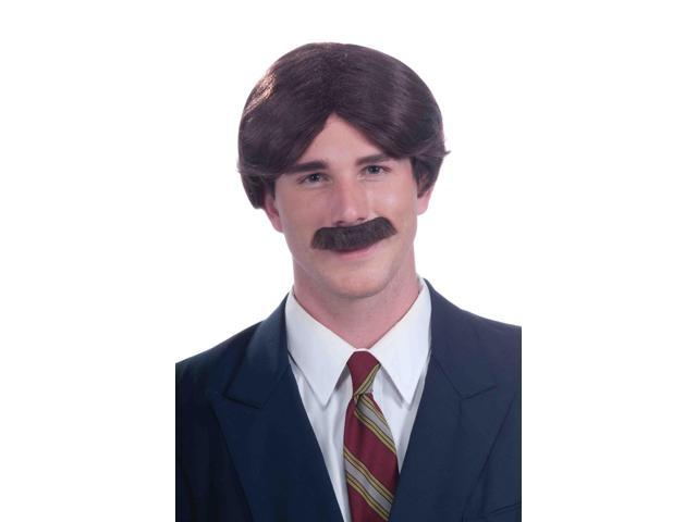 Mr. 70's News Anchor Adult Male Brunette Costume Wig