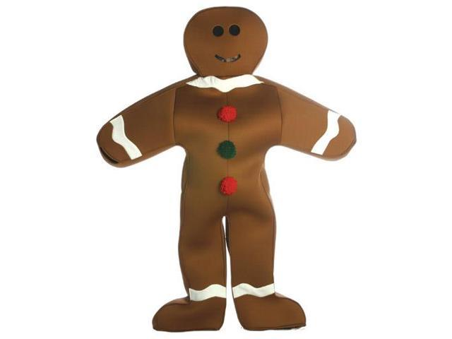 Gingerbread Man Adult Deluxe Costume Standard