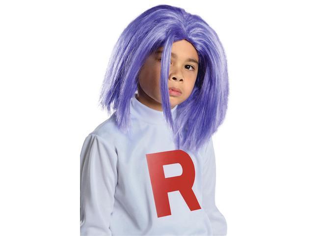 Pokemon James Blue Costume Wig Child One Size