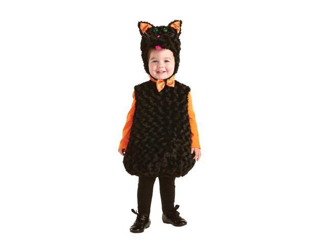 Belly Babies Black Cat Costume Child Toddler Medium 18-24 Months