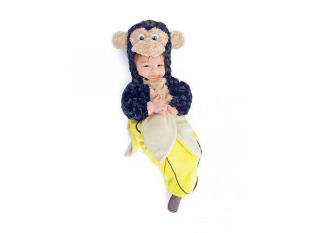 Monkey In Banana Plush Bunting Child Toddler Costume Infant