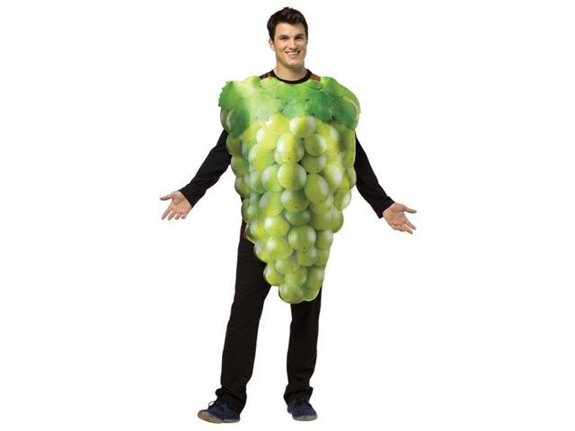 Get Real Bunch Of Grapes Costume Adult: Green One Size Fits Most