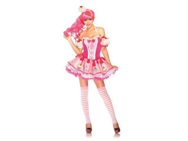 Sexy Pink Babycake Cupcake Costume Dress Adult X-Small 0-2