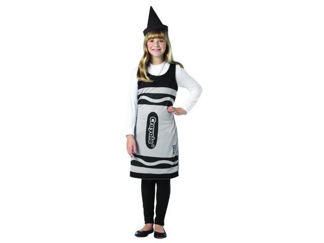 Crayola Black Tank Costume Dress Tween Tween 10-12
