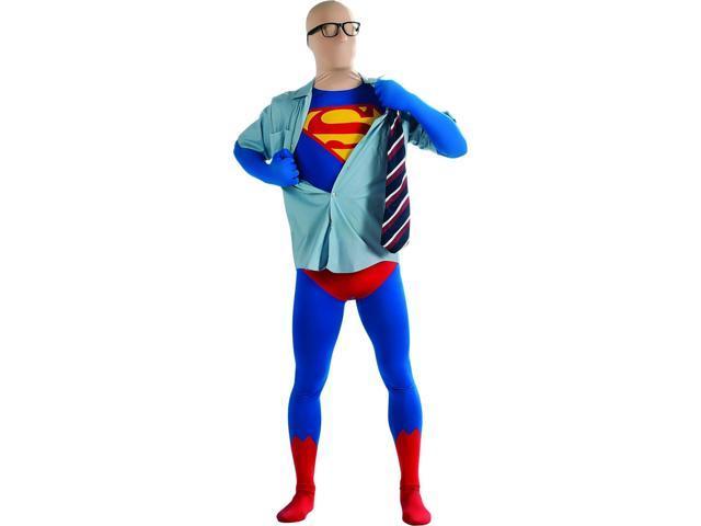 Superman 2nd Skin Jumpsuit Costume Adult Large 42-44