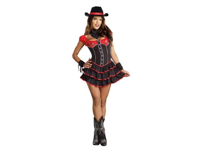 Sexy Prairie Rose Cutie Cowgirl Costume Adult Large