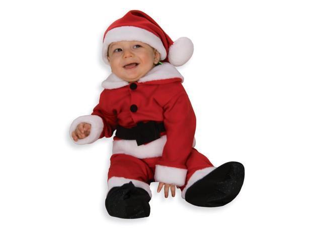 Fleece Santa Costume With Belt Newborn Child 6-12 Months